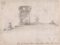 Ruin of St Leonards church at Winchelsea, Sussex, 1794
